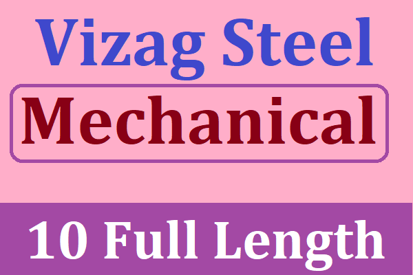 Vizag Steel Management Trainee 2020 Mechanical Best Test Series | Best Test Series for Vizag Steel MT 2020 cover